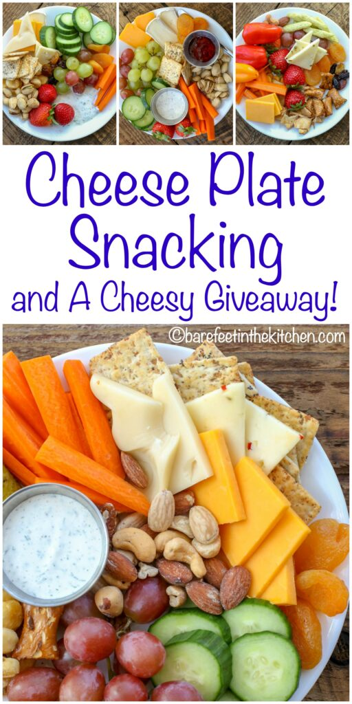 Cheese Plate Snacking & A Cheese Giveaway! #barefeetkitchencheeseplates get the details at barefeetinthekitchen.com