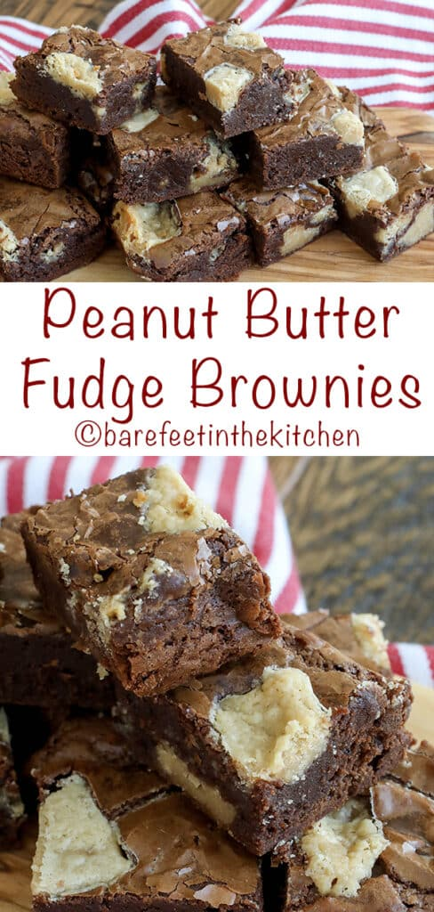 Everyone loves these rich chocolate brownies filled with chunks of peanut butter fudge!