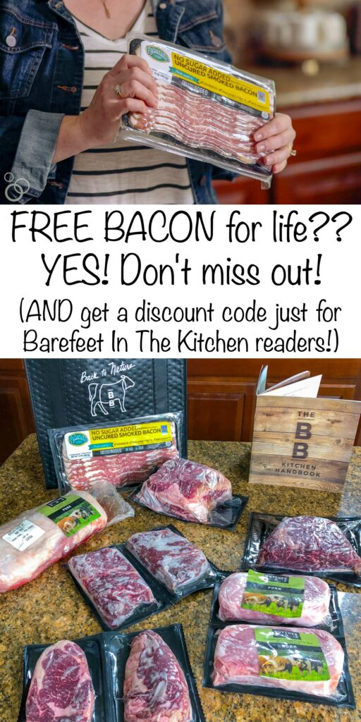 Get Free Bacon for LIFE and a Butcher Box Discount Code just for Barefeet In The Kitchen readers!