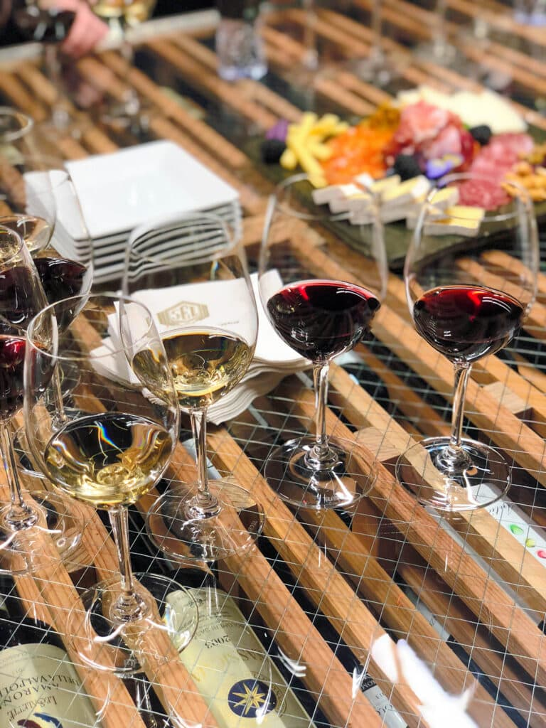 Wine tasting at Stein Erickson Lodge in Park City, Utah