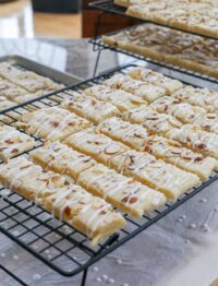 Almond Bars are tender, lightly sweetened shortbread-like bars that are so good, you'll find yourself doubling the recipe every single time you make them.