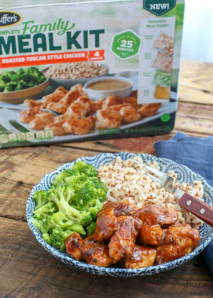 Stouffer's Complete Meal Kits are an awesome option for quick dinners with zero planning required in advance. Keep a kit stashed in the freezer and you'll have dinner on the table in no time.