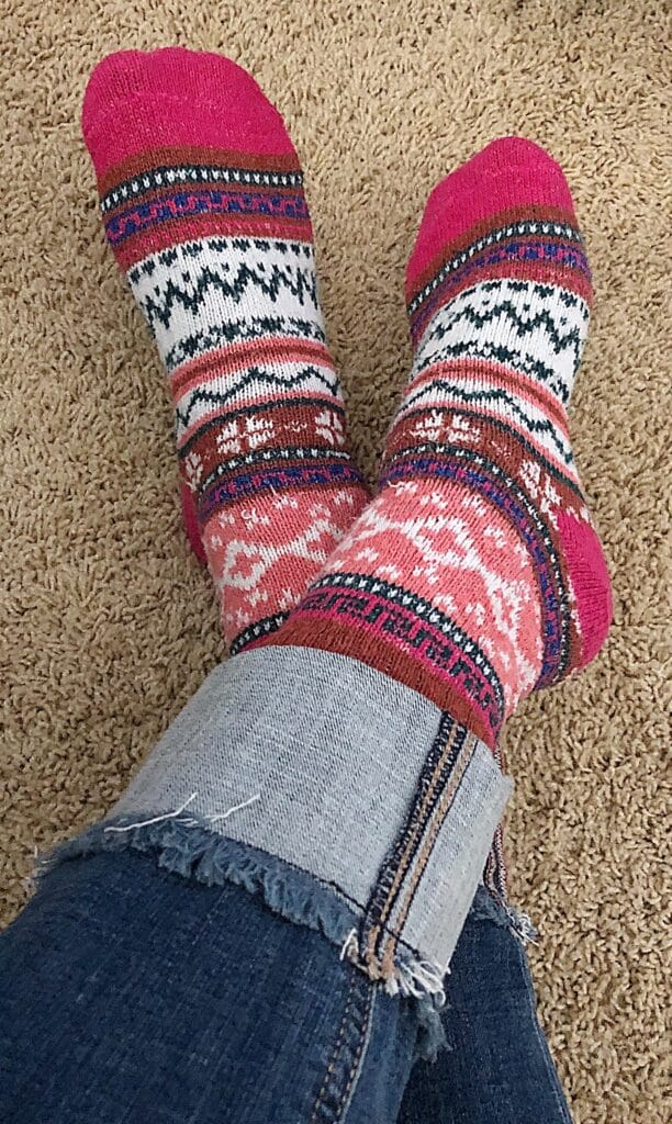 Favorite Cozy Socks Giveaway - enter now at barefeetinthekitchen.com