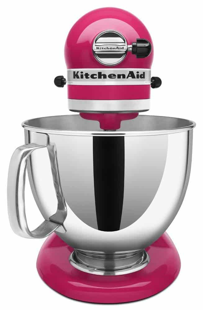 Enter to win this Cranberry KitchenAid Stand Mixer from barefeetinthekitchen.com