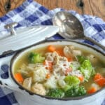 Chicken Soup with Red Potatoes and Vegetables