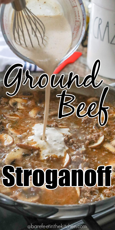 Creamy Ground Beef Stroganoff is a winner!