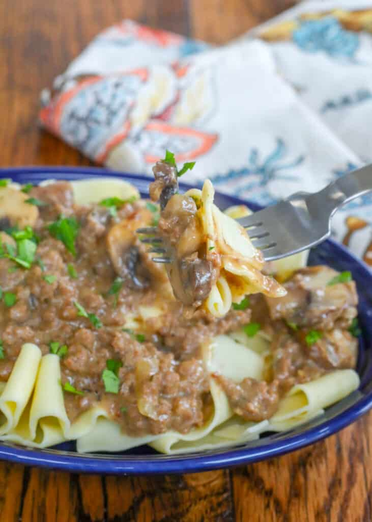 You're going to love this ground beef stroganoff from the very first bite!