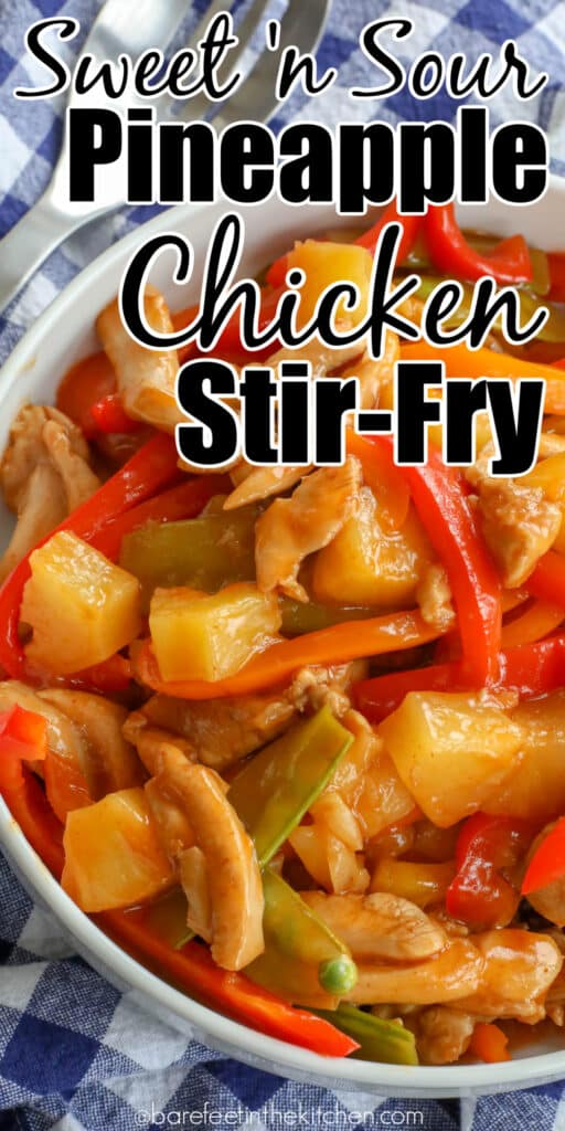 Sweet n sour chicken stir fry