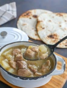 NM Green Chile Stew - made in the crock-pot OR on the stove!