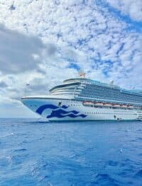 Caribbean Princess cruise ship - outside of Dominican Republic.