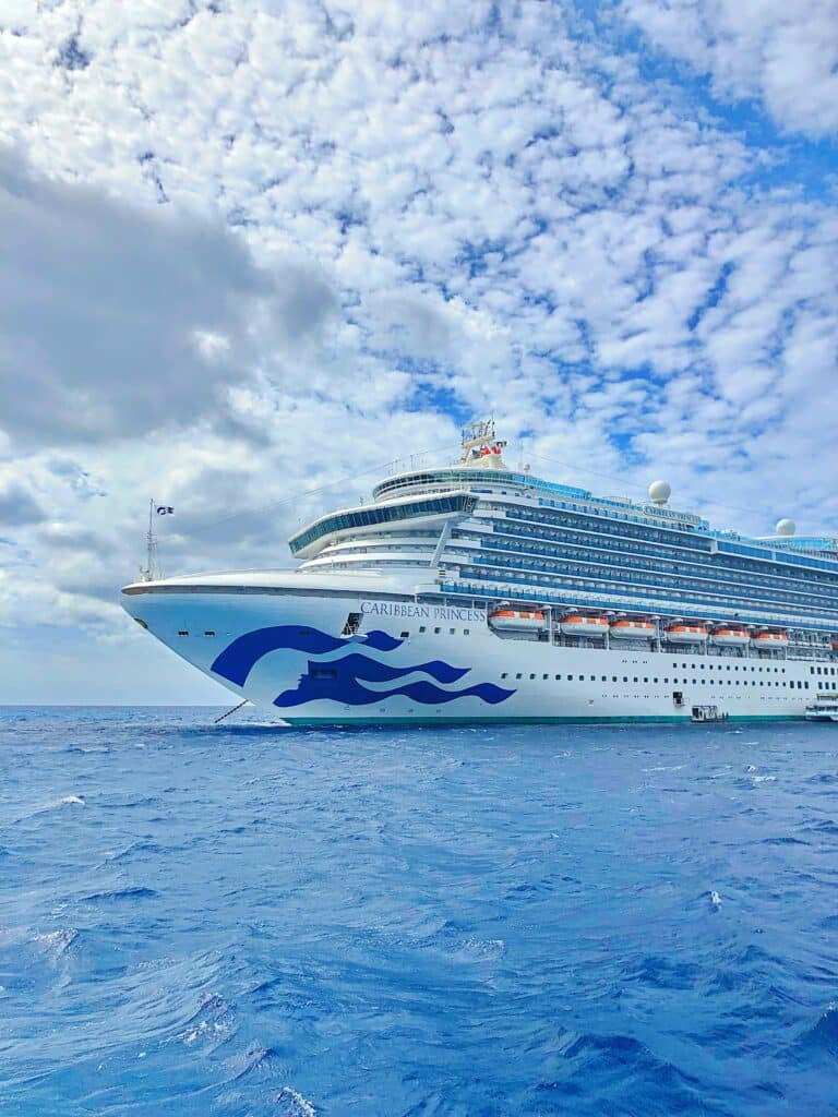 Caribbean Princess cruise ship - outside of Dominican Republic.