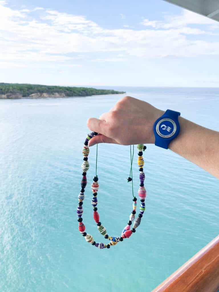 Princess Cruises excursion to RePapel - these handmade beads are made from recycled magazines.