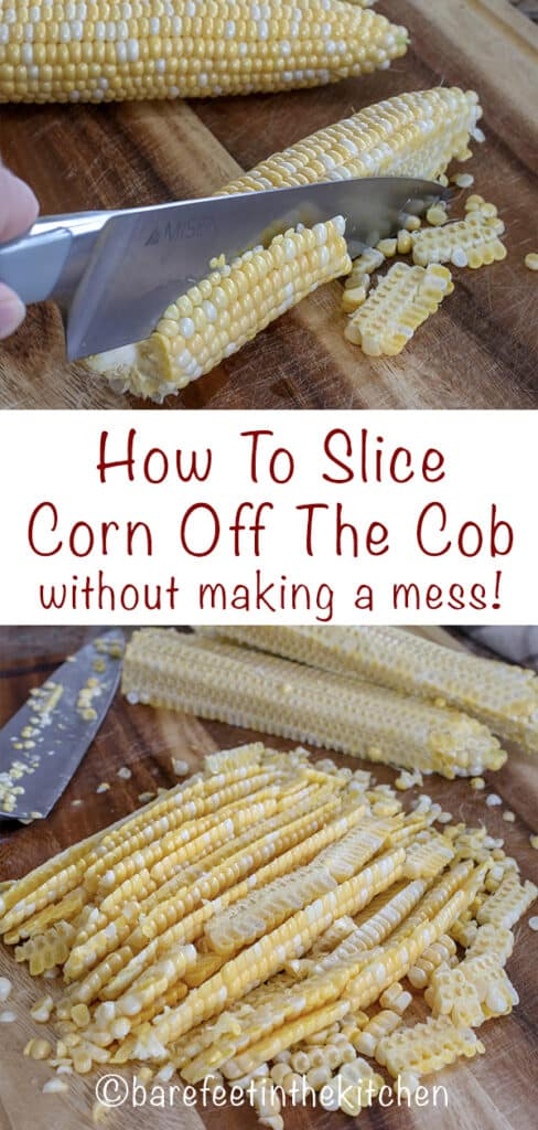 How To Slice Corn Off The Cob - without making a mess!