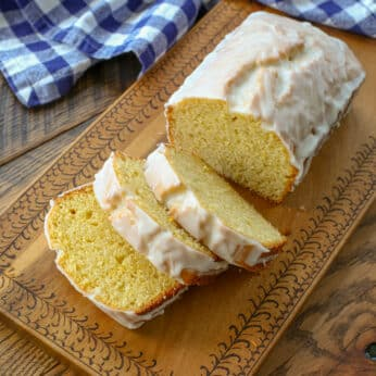 Iced Lemon Loaf Cake - get the recipe at barefeetinthekitchen.com