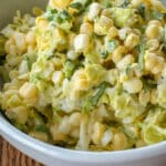 Jalapeno Corn Coleslaw - get the recipe at barefeetinthekitchen.com