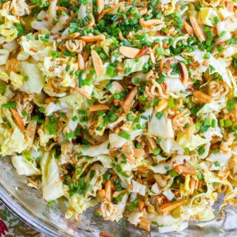 This isn't the Ramen Noodle Salad you've tried in the past! get the recipe at barefeetinthekitchen.com