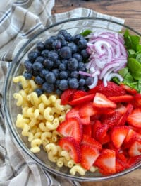 I could eat this Strawberry Spinach Pasta Salad every single day - and lately I have!