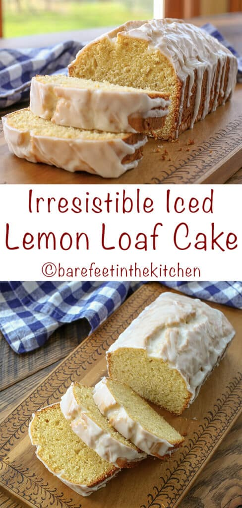 Irresistible Iced Lemon Cake - get the recipe at barefeetinthekitchen.com