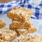 Chewy, buttery Coconut Pecan Blondies