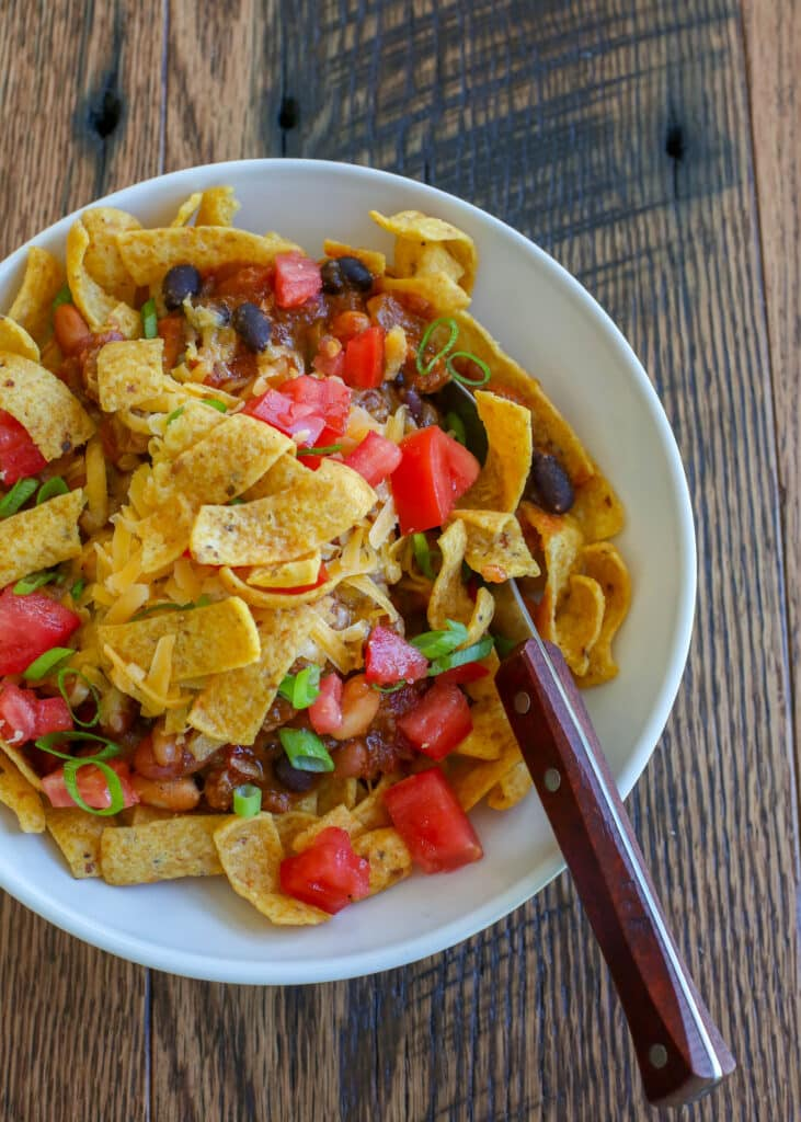 Dig in to an irresistible bowl of Frito Pie tonight!