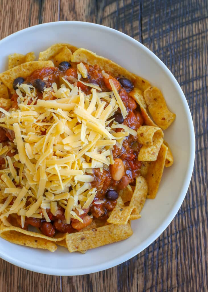 Basic Frito Pie never goes out os style - everyone LOVES it!