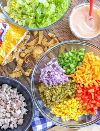 Frito Salad with Corn and Chicken