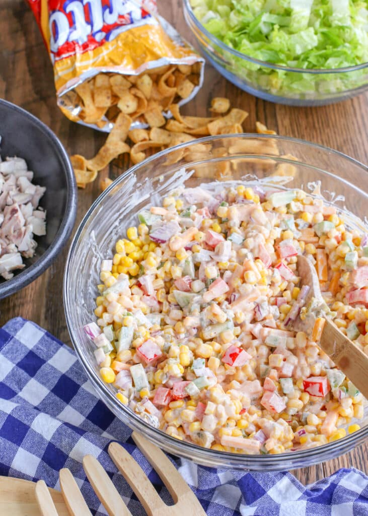 Frito Corn and Chicken Salad