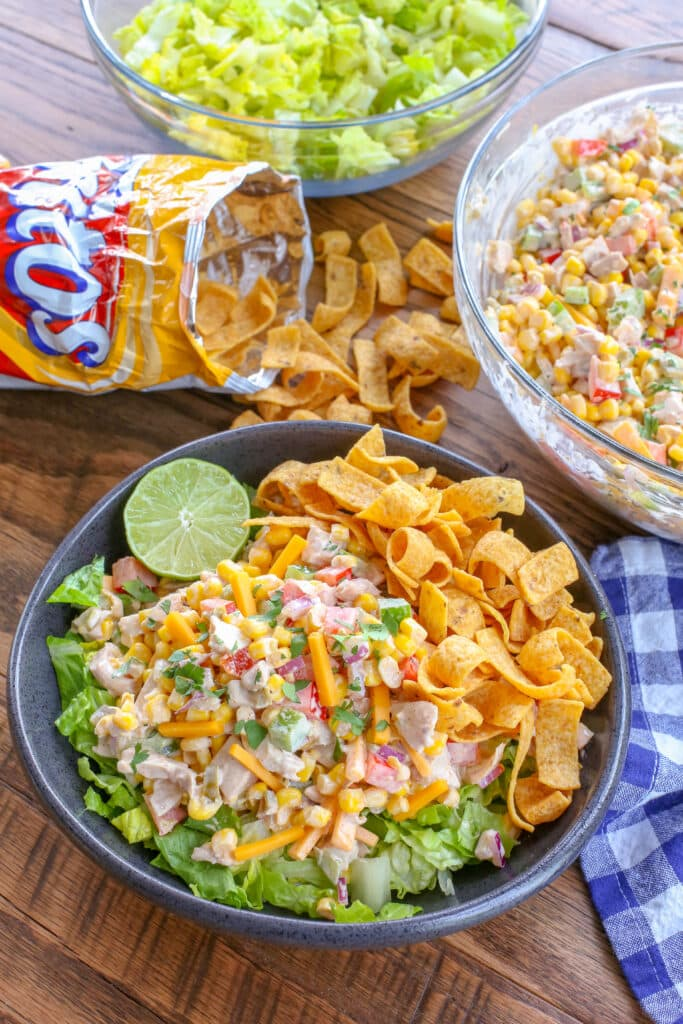 Fully Loaded Frito Salad is a family favorite!