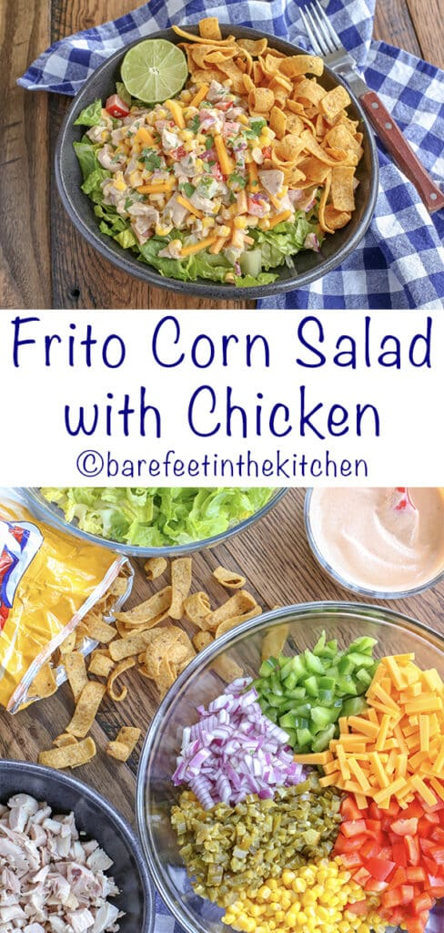 Frito Salad with Corn and Chicken is a HIT!