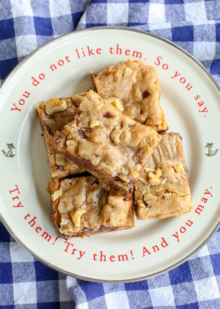 Classic Blondies are crisp, chewy, fudgy deliciousness!