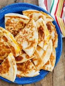 Buttery, cheesy, perfectly crisp quesadillas are a favorite last minute dinner!