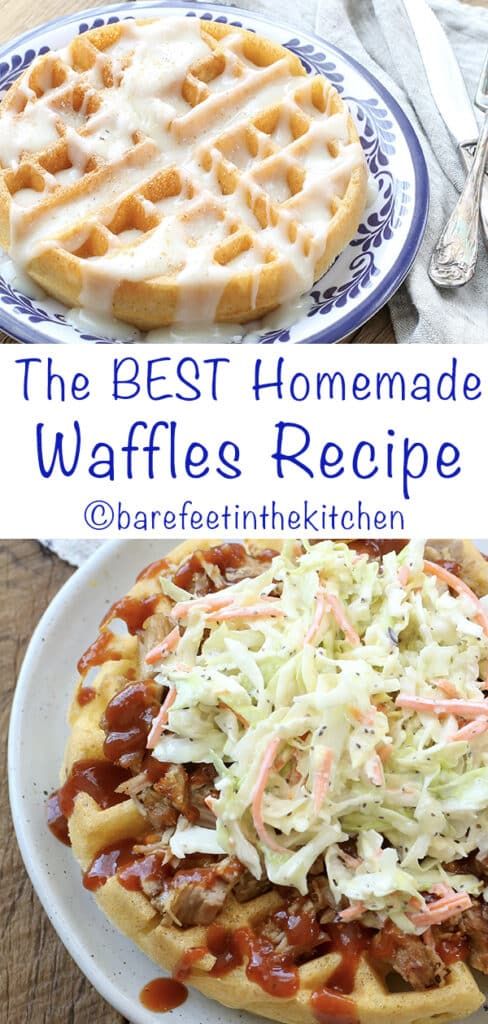 The BEST Waffle Recipes! get them all at barefeetinthekitchen.com