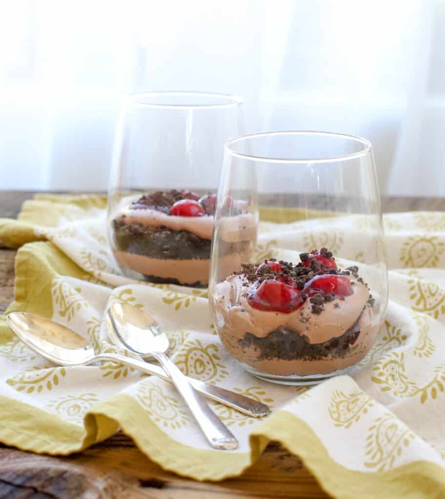 Chocolate Cheesecake Mousse Cups - recipe from The Weeknight Dessert Cookbook!