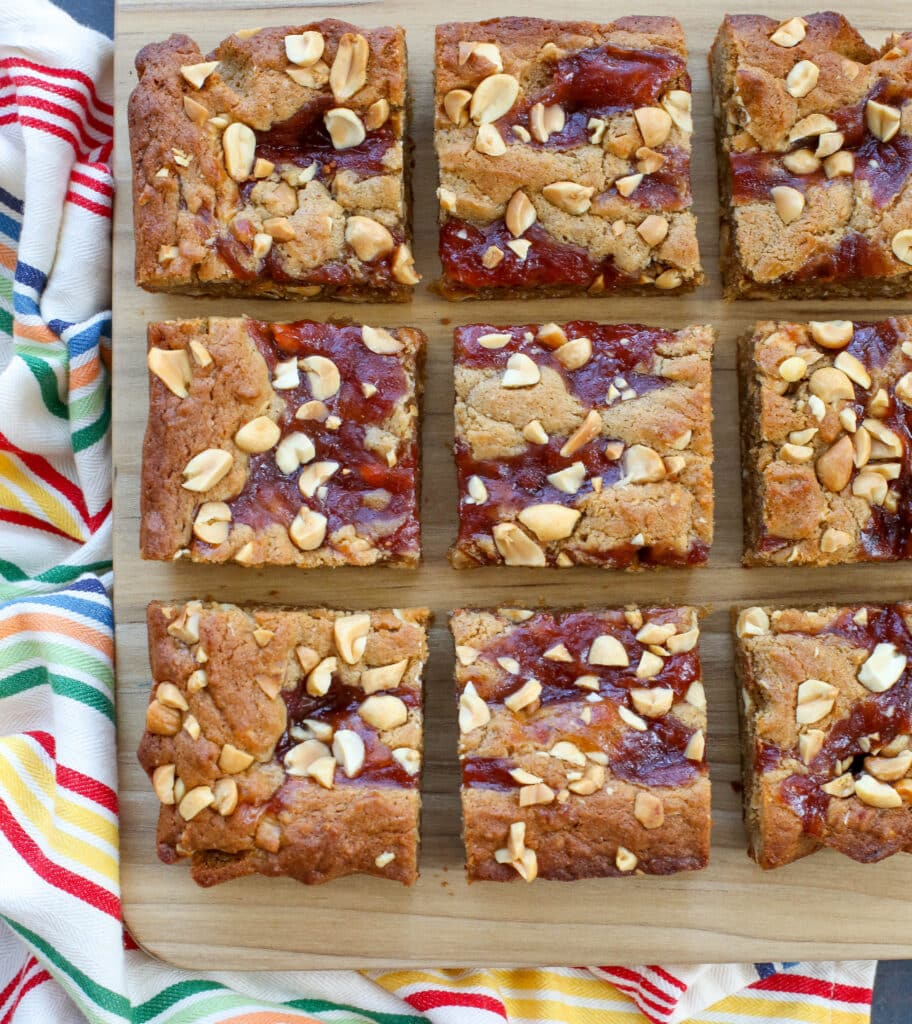 PB&J Blondies - recipe in The Weeknight Dessert Cookbook, order your copy NOW!