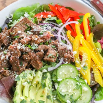 Southwest Steak Salad with Chipotle Dressing