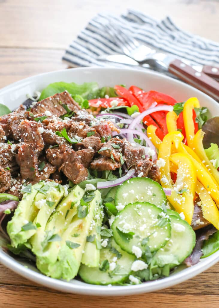 Steak Salad with Chipotle Lime Vinaigrette