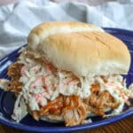 Coleslaw is required for the ultimate pulled pork sandwich