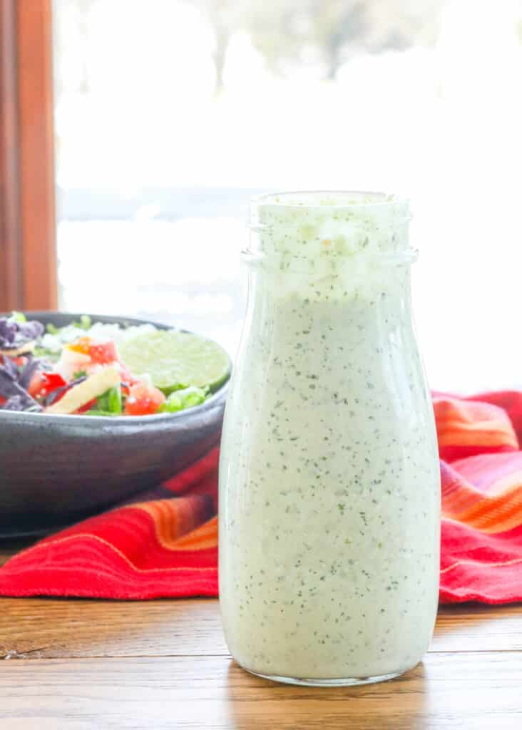 Creamy Tomatillo Dressing - just like Cafe Rio