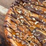 Chocolate, caramel, and pecans add up to an awesome Turtle Cheesecake