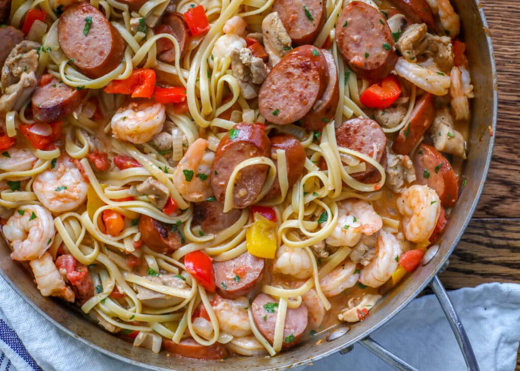Jambalaya Pasta is a family favorite!