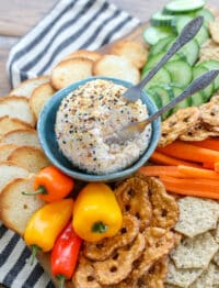 Party Cheese Ball - made with ham, cheese, and everything bagel seasoning!