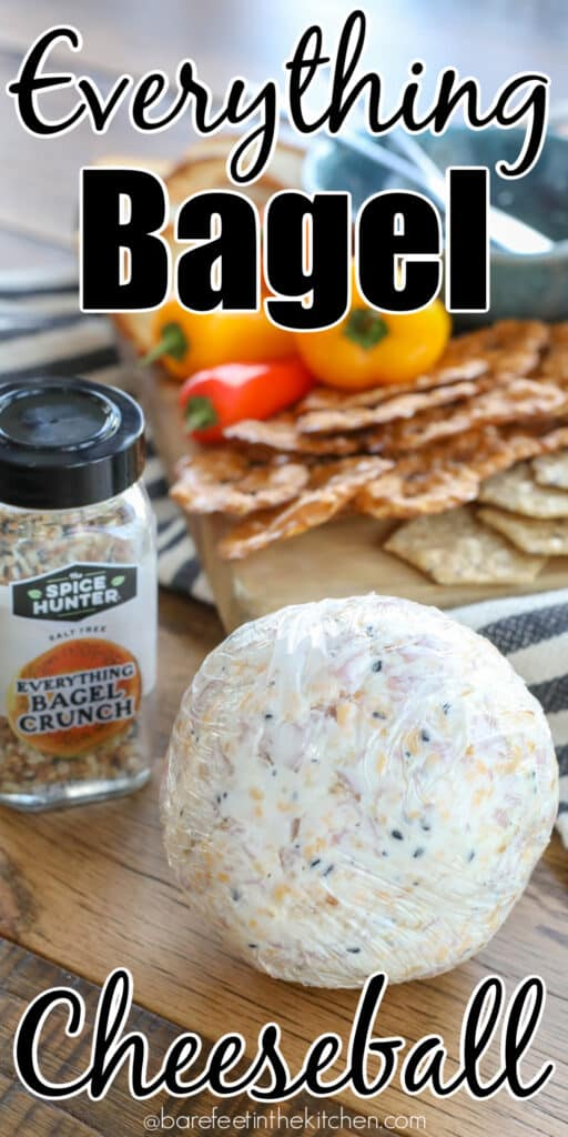 All the flavor of an Everything Bagel in a spreadable cheeseball!