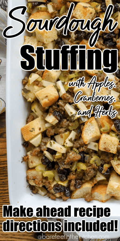 Sausage Stuffing with Apples, Cranberries, and Herbs