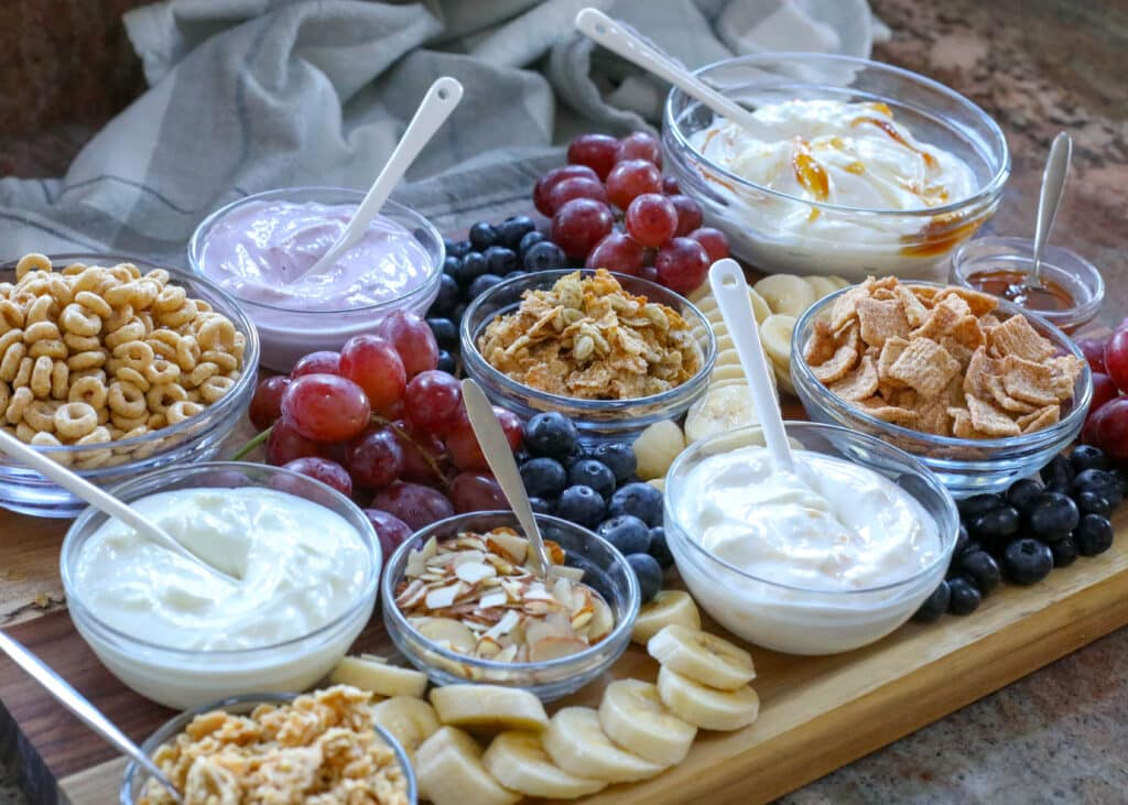 Yogurt with Granola adds up to a terrific breakfast board!