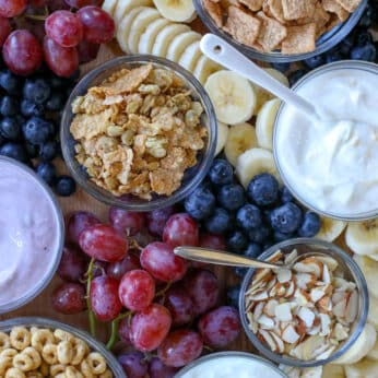 DIY Breakfast Parfait Board - get the directions at barefeetinthekitchen.com