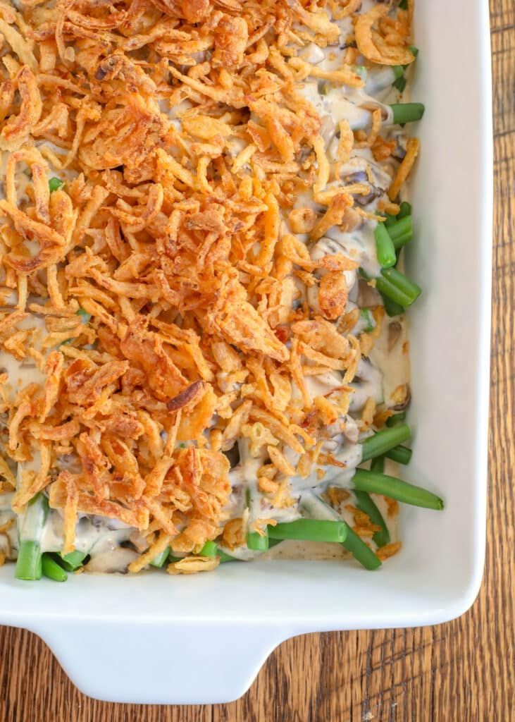 Toss the cans and make green bean casserole without the soup!