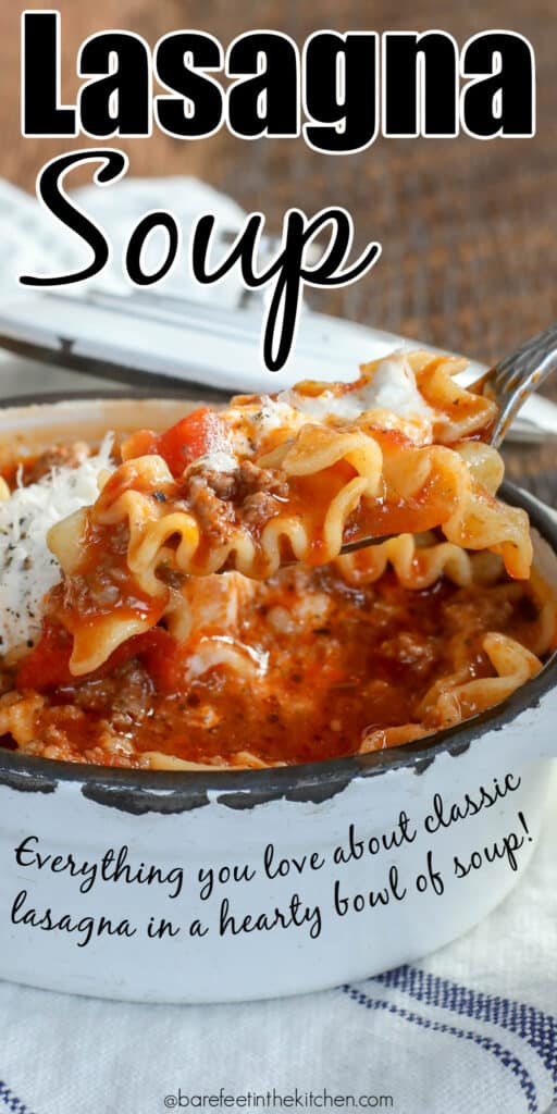 Lasagna Soup - everything you love about classic lasagna in a hearty bowl of soup!