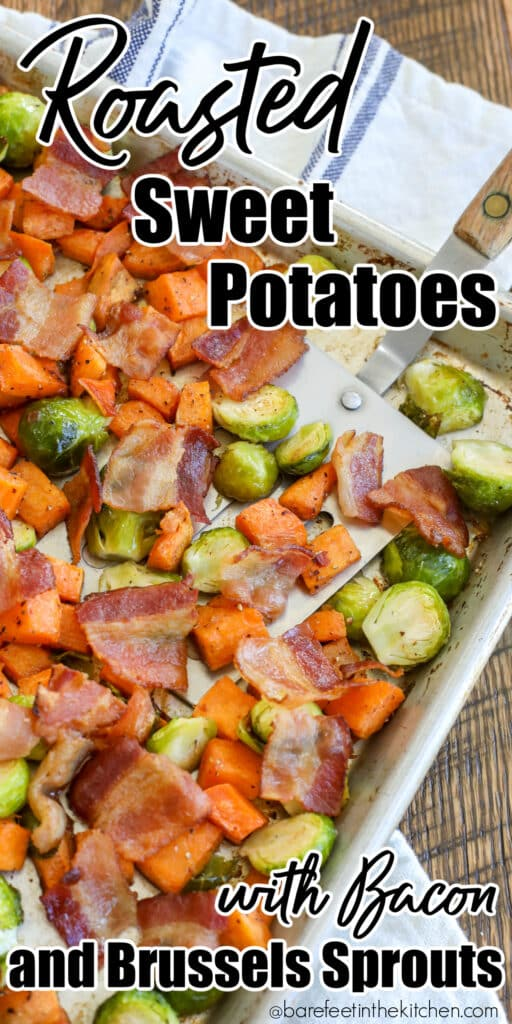 Sweet Potatoes with Brussels Sprouts and Bacon is an awesome side dish