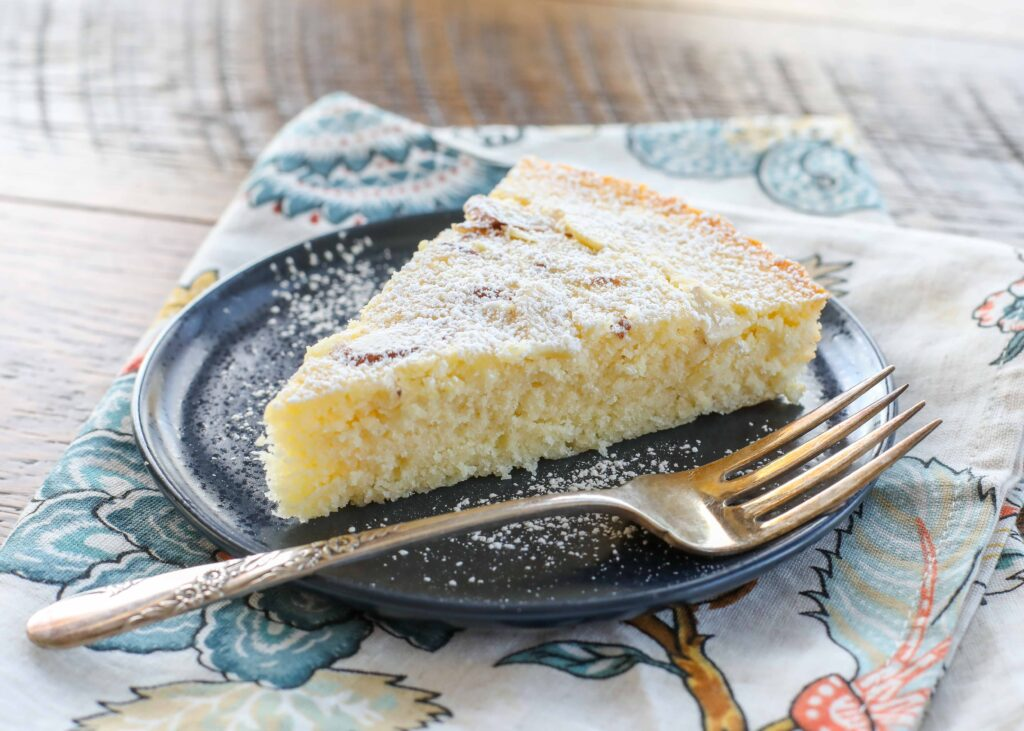 Perfectly tender almond cake