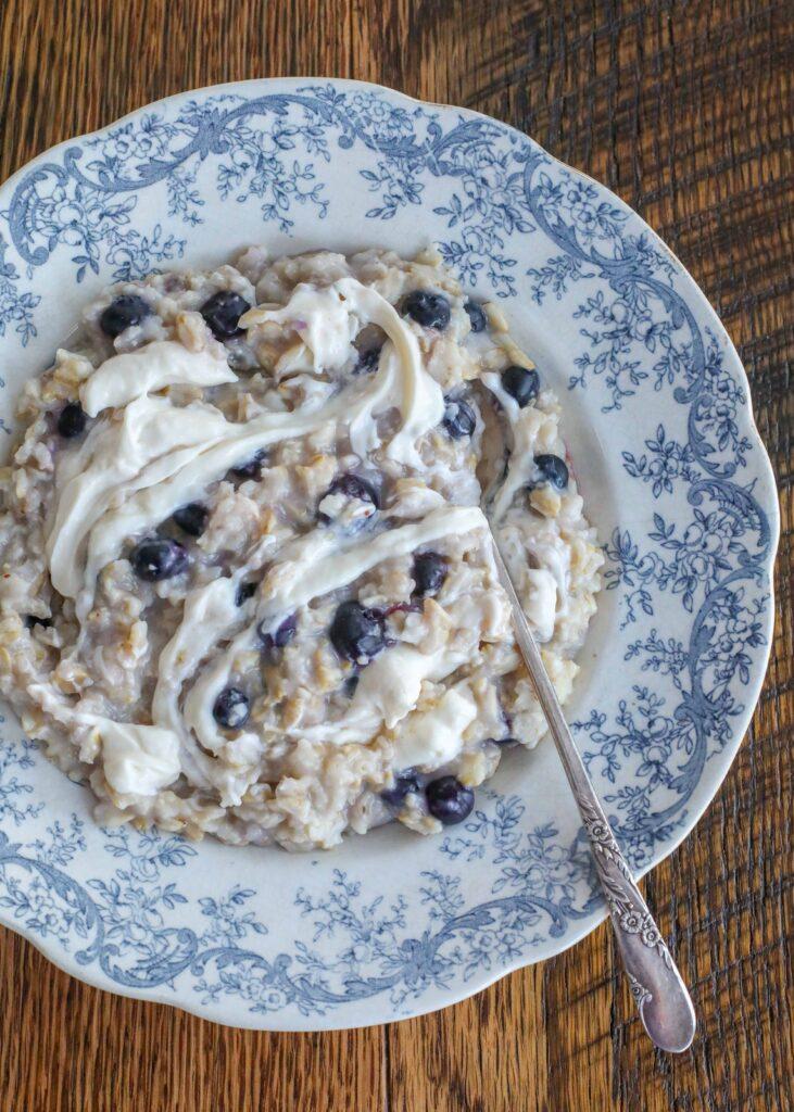Blueberry Cheesecake Oatmeal is a breakfast win